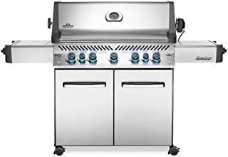 Napoleon P665RSIBNSS Prestige 665 Infrared Side and Rear Burners, Stainless Steel Natural Gas Grill