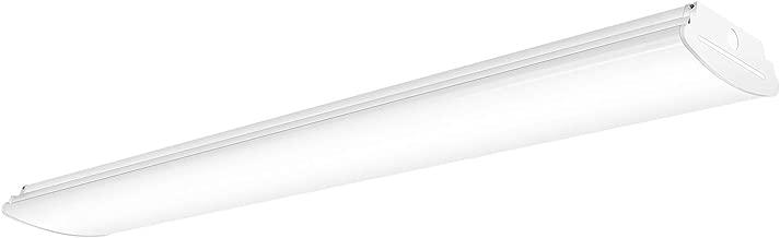 AntLux 4 Foot LED Wraparound Light Flush Mount Garage Lights, 40W 4800 Lumens, 4000K, 4ft LED Wrap Around Light, Integrated Linear Shop Puff Ceiling Lighting Fixture for Workshop, Office, Kitchen