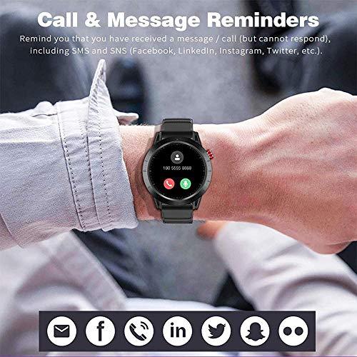 Smart Watch 1.3 Monitor de Actividad con Pantalla táctil Monitor de Ritmo cardíaco Presión Arterial Fitness Smartwatch Impermeable Hombres Deporte Cronómetro Contador de Pasos Rastreador de sueño