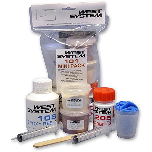 WEST SYSTEM Epoxidharz 101 Mini Pack Pack 105-205, schneller Härter Harz