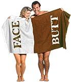 GIELYPANO Velour FACE Butt Beach Bath Towel 100% Cotton Velour Beach Towel Size 58x28 INCH - Swim, Pool, Bath, Travelling 1 Piece (Face Butt)