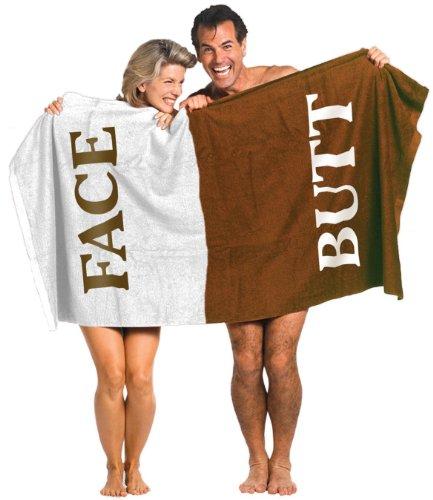 GIELYPANO Face Butt Towel 100% Cotton Beach Bath Towel 58' x 28' Practical & Novelty Gift Swim,...