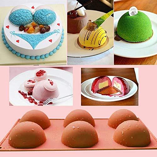 FantasyDay® 2 Stück Premium Silikon Backform/Muffinform für Muffins, Cupcakes, Kuchen, Pudding, Eiswürfel und Gelee - Hemisphäre Silikonform für Eindrucksvolle Kreationen, Hochwertige Kuchenform