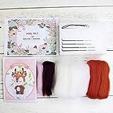 WT-BLVUVY Sika ciervo creativo muñeca lana fieltro Kit Craft DIY no acabado Poked Set hecho a mano Kit para aguja Material Bolsa Pack