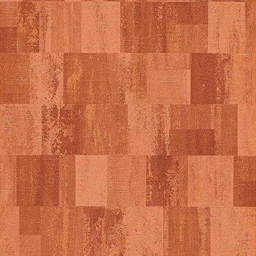 Mustertapete Tapeten mit Muster Grau Orange Terrakotta Vliestapete Grau Orange Terrakotta 360023 | Tapeten online kaufen