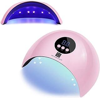 ZHTY Máquina Inteligente de fototerapia de uñas Secador de Pegamento de Aceite de uñas, sin Secadora de Manos Negras Lámpara de uñas de sincronización de Tres velocidades, Adecuada para la