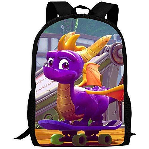 Rucksäcke Taschen Daypacks Wanderrucksäcke, Shoulder Bag,Sp-Yro Skateboard Dragon | School Bags Multiple Pockets Backpack for Kids/Youth/Boys/Girls