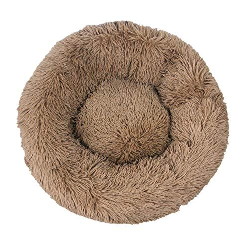 Cama redonda para gatos y gatos, suave y larga, para mascotas, ideal para perros, cesta de productos de mascotas, cojín para gatos o mascotas (color: 12, tamaño: 60 cm)