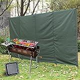 KOSIEJINN Camping Paravent Coupe-Vent De Camping De Barbecue en Plein Air Pliable Non Inflammable Abri De...