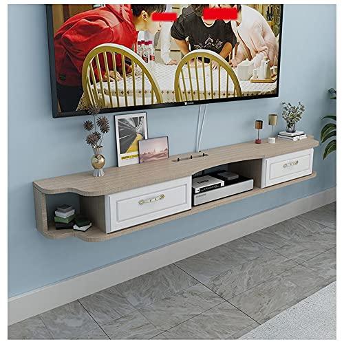 WFENG Armario De TV De Pared/Mesa TV,Montaje De Soporte De TV Flotante,Decuado para Dormitorio/Sala De Estar/C / 120×23×15cm
