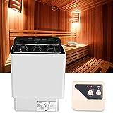 Zouminyy Estufa de sauna, 6KW 220-380V Calefacción de baño de acero inoxidable Control externo Calentador de estufa de sauna