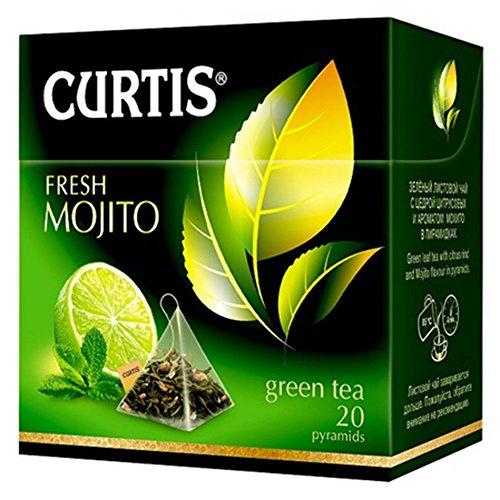 Curtis grüner Tee Fresh Mojito 20 Pyramidenbeutel Pyramid Tea