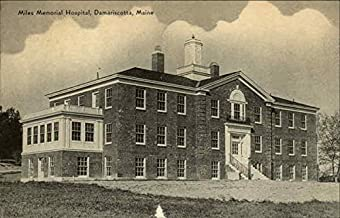 Miles Memorial Hospital Damariscotta, Maine Original Vintage Postcard