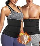 DUROFIT Neopren Fitness Sweat Belt Bauchweggürtel zur Fettverbrennung Schwitzgürtel Taille Trimmer...