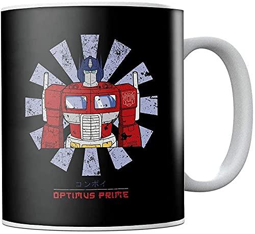 Transformers Optimus Prime - Taza de café japonesa de cerámica, diseño retro, regalo de cumpleaños