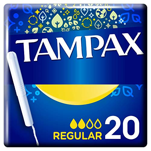 Tampax Regular Tampons With Cardboard Applicator 20X, Leak Protection, Feel Clean