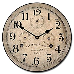 Bundy Wall Clock, Available in 8 Sizes, Most Sizes Ship The Next Business Day, Whisper Quiet.