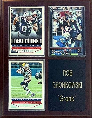 Frames Plaques and More Rob Gronkowski New England Patriots 3 Card 7x9 Plaque product image