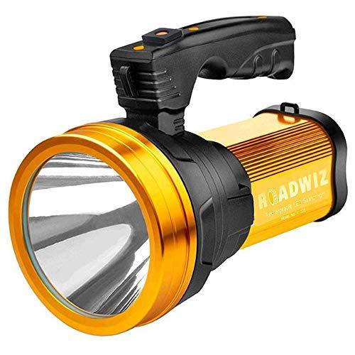 Roadwiz 6000LM LED Handscheinwerfer USB Wiederaufladbar Ustellar Strahler Camping Laterne Wasserdicht Suchscheinwerfer Handlampe 3 modi Scheinwerfer Notfallleuchte Dimmbare Taschenlampe Power Bank