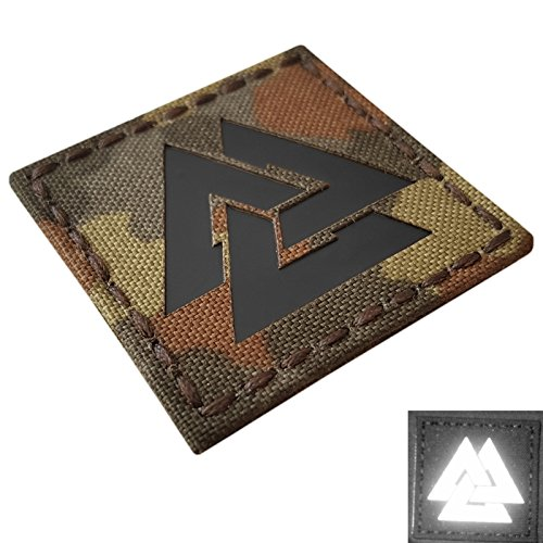 Flecktarn Infrared IR Viking Valknut Norse 2x2 Laser Cut Bundeswehr IFF Tactical Morale Hook-and-Loop Patch