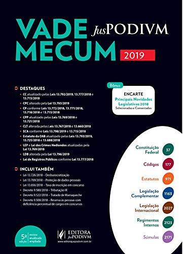 Vade Mecum Juspodivm (2019.1): Atualizado Até 04/01/2019