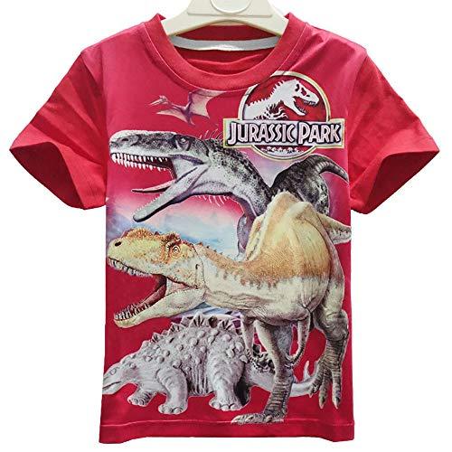 Camiseta de Manga Corta de Dinosaurio para niños Jersey para niños Chándal para Correr Ropa Jumper Hip Hop Streetwear Tops