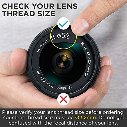 52MM 0.43x Altura Photo Professional HD Wide Angle Lens (w/Macro Portion) for Nikon D7100 D7000 D5500 D5300 D5200 D5100 D3300 D3200 D3100 D3000 DSLR Cameras