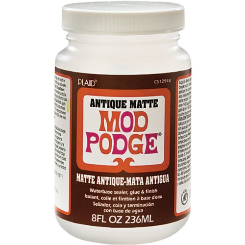 Mod Podge Antique Matte Waterbase Sealer, Glue and Finish (8-Ounce), CS12948, 1 Pack