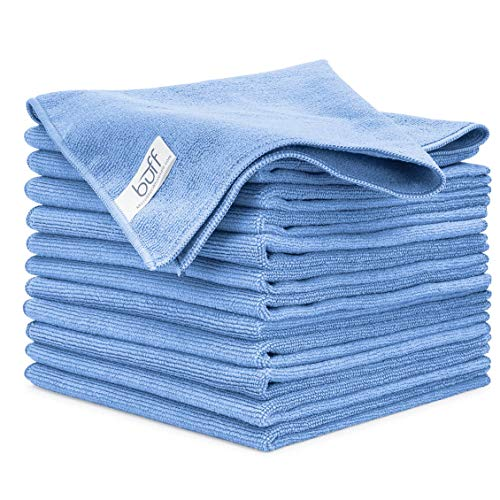 Buff Microfiber All Purpose Cleaning Cloth - 16 in. x 16 in. - 12 Pack