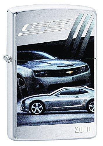 Zippo Lighter Chevy Camaro SS 2010 Brushed Chrome