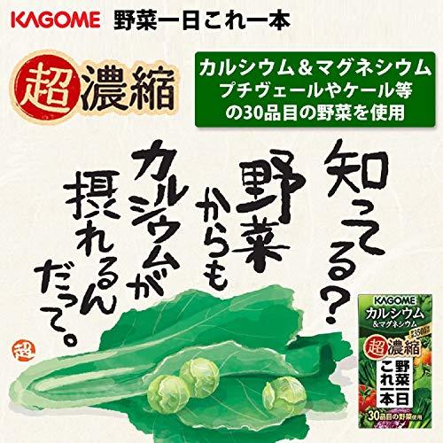 カゴメ野菜一日これ一本超濃縮カルシウム125ml×24本