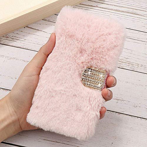 Funda para iPhone 5, 5S, 6, 6S, 7, 8 y SE Plus, de piel sintética, piel sintética, piel sintética, suave, funda protectora, rosa, para iPhone 7 Plus/8 Plus