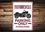 C-US-lmf379581 Señal de Aparcamiento para Motocicleta, Regalo para Motociclista, decoración de Motocicleta, Regalo para Motociclista, Aluminio de Calidad