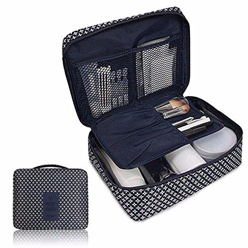 Maletín cosmético con separadores ajustables, bolsa de viaje, bolsa de maquillaje con...