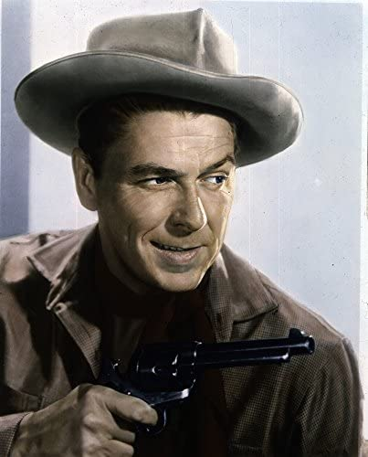 Ronald Reagan with a cowboy hat and revolver Photo Print 8 x 10 product image