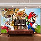 MIYCOLOR Super Mario Fototapete Personalisierte Benutzerdefinierte 3D Wandbild Spiel Tapete kinderzimmer Jungen Schlafzimmer Kunst Raumdekor Cartoon-430x300