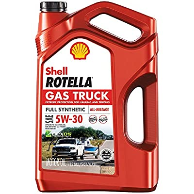 Shell Rotella Gas Truck Full Synthetic 5W-30 Motor Oil for Pickups and SUVs (5-Quart, Single-Pack)