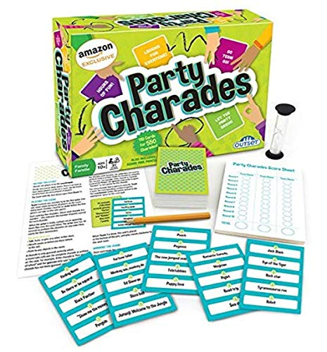 Party Charades Game (Amazon Exclusive) – Contains 550 charades – Great Family Game for 2 or More Players Ages 10 and up by Outset Media