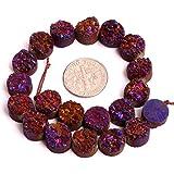 10mm cristal teñida de Raw amatista Freeform Gemstone Loose Beads en bulk para fabricación de joyería al por mayor cuentas una Strand 8'