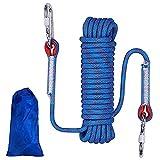 IWILCS Cuerda de Escalada para Exteriores,10M, Cuerda de Escape en Caso de Incendio, Cuerda de Seguridad de Alta Resistencia, Cuerda de Nailon Trenzada, Cuerda de Rescate