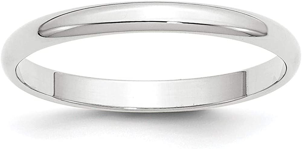 14k White Gold 2.5mm Half Round Wedding Ring Band Size 10 Classic Fine Jewelry For Women Gifts For Her