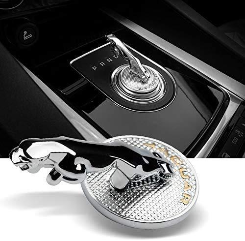 Emblema estereoscópico para el pomo de palanca de cambios de coche con letras de metal para J-aguar F-PACE XE XF XFL XEL