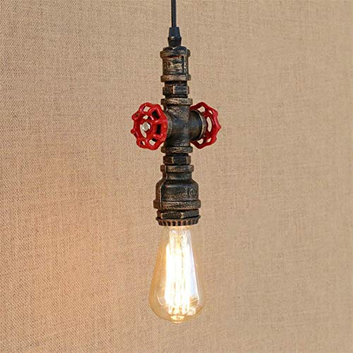 Vinteen Edison Industria Tubería de Agua Lámpara de Techo Lámpara de Techo Retro Aisle Luces Iron Art Loft Style Tienda Bar Café Escaleras Nostálgica Colgante Lámpara Colgante Luces