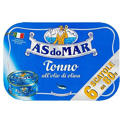Asdomar Tonno all'Olio di Oliva, 6 x 80g