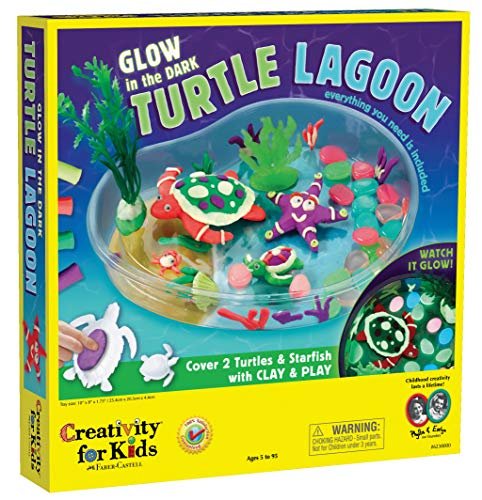 Creativity for Kids Create with Clay Turtle Lagoon – Marine Biology Crafts for Kids - Build a Sea Turtle Habitat with Clay, Multi  (6238000)