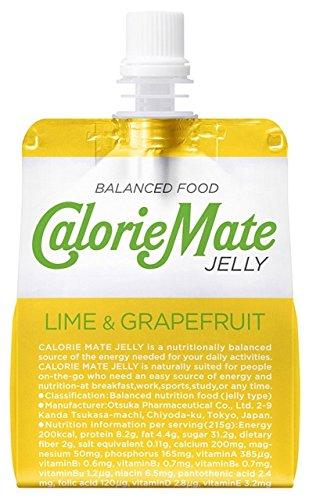 大塚製薬 カロリーメイト ゼリーライム&グレープフルーツ味 215gパウチ×24本入 3ケース