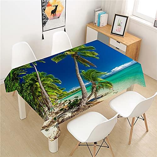 XXDD Mantel de árbol de Coco, Cubierta de Mesa, Mesa de Picnic, Cubierta de Mesa Rectangular, Mantel Lavable para decoración de Mesa para el hogar, A1 135X180CM