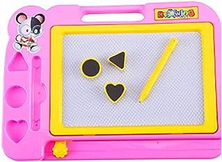 マジックボード、子供のための絵おもちゃ、27.5 x 19.5 cmピンクの消去可能な磁気ボードのマジック、落書きスケッチパッド黒板キッズギフト3 4 5歳