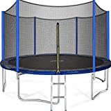 UPA 15 14 12 10 8FT Trampoline Capacity 425lbs with Safety Net Enclosure, Strong Heavy Duty Backyard Trampoline with Net, Outdoor Trampoline for Kids, Teens and Adults