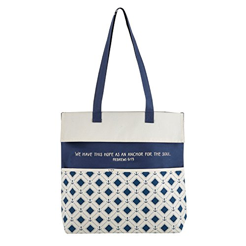 Gifts Of Faith Inspirational Canvas Purse/Tote Bag, 13.5 x 14-Inch, Hope as an Anchor - Scripture